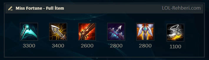 miss fortune full builds